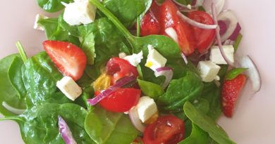 рецепта на лятна салата спанак