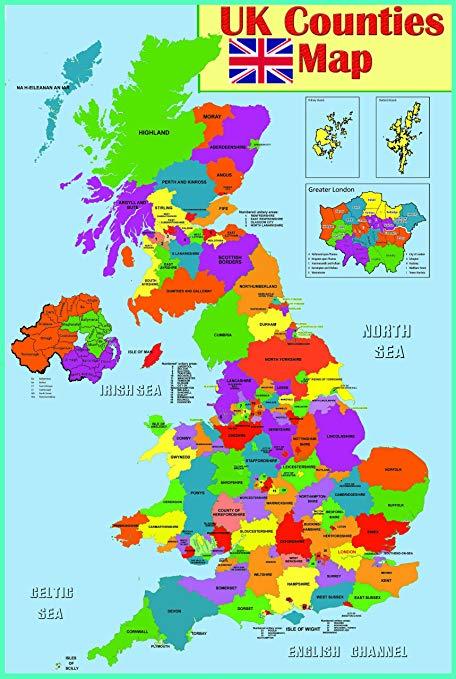 карта на Великобритания