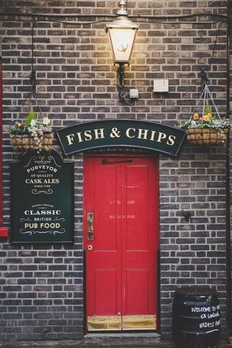 риба и чипс в Лондон