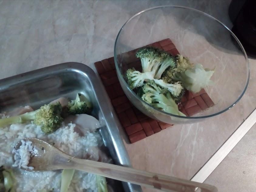 подготовка пилешко с броколи
