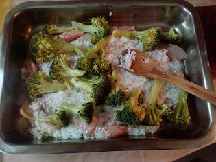 запеканка с пилешко и броколи