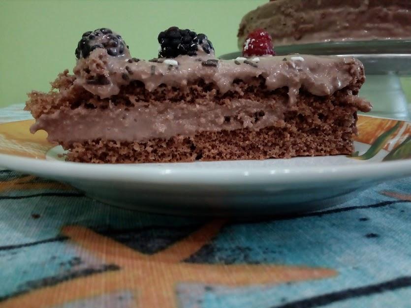 парче торта с готови блатове