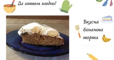 вкусна бананова торта рецепта
